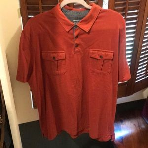 Essential orange/red Banana Republic Polo- XXL